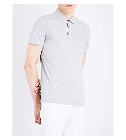 BOSS Regular-fit cotton-piqué polo shirt (Open+grey