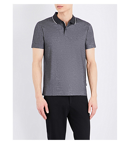 BOSS Regular-fit cotton-piqué polo shirt (Charcoal