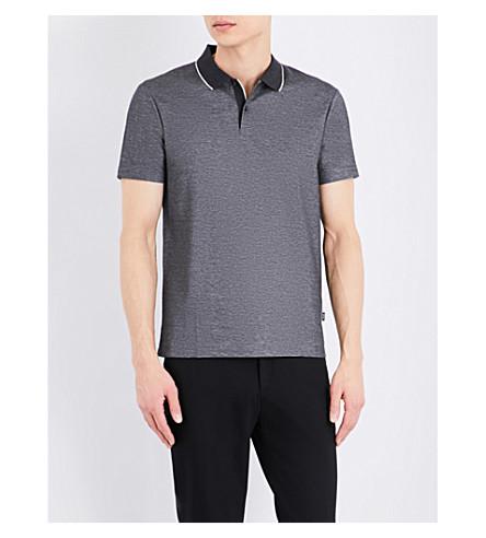 BOSS 常规版型棉质珠地布 Polo 衫 (炭