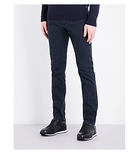 BOSS Slim-fit tapered jeans (Dark+blue