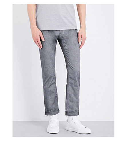 BOSS Slim-fit tapered jeans (Charcoal