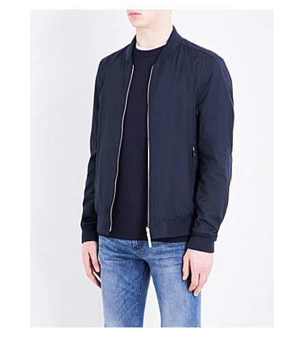BOSS Stand-collar bomber jacket (Dark+blue