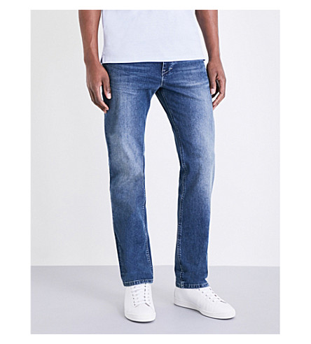 BOSS Leisure regular-fit tapered jeans (Medium+blue