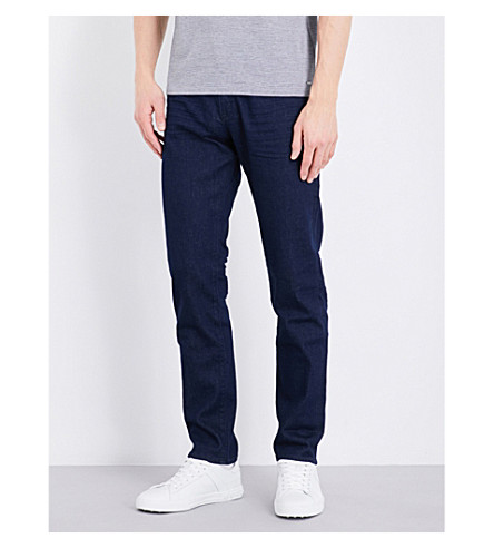 BOSS BLACK CASUAL Regular-fit tapered jeans (Navy