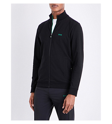 BOSS GREEN Logo-detail jersey sweatshirt (Black