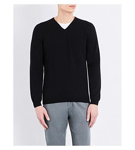BOSS Slim-fit knitted jumper (Black