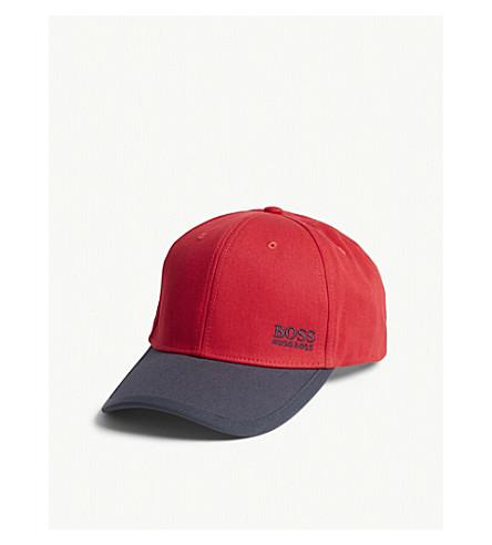 BOSS GREEN Logo baseball cap (Medium+red