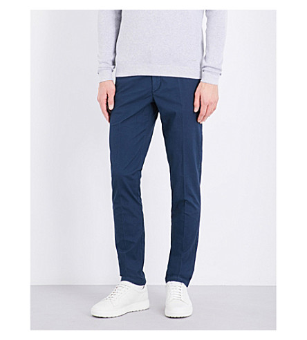 BOSS Slim-fit tapered chinos (Dark+blue