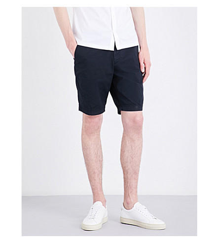 BOSS Regular-fit stretch-cotton shorts (Dark+blue