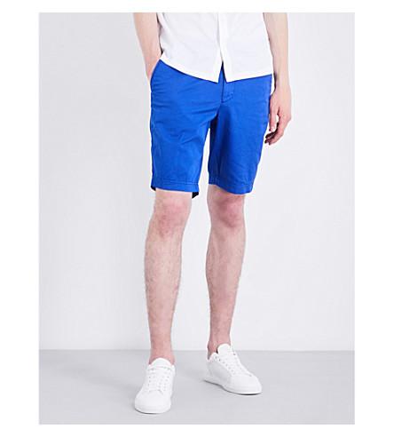 Shorts regular elástico de corte algodón Azul medio de BOSS dgqnHBZd