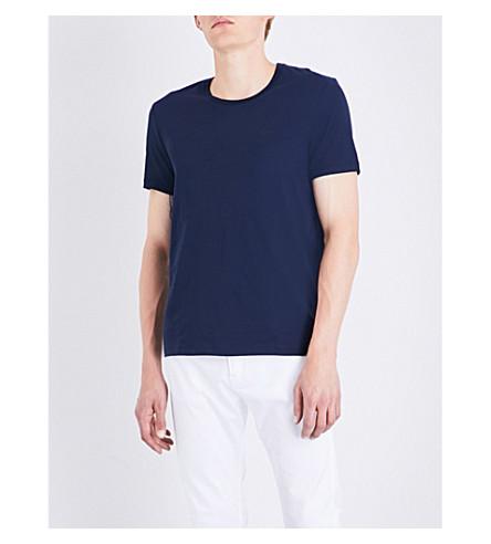 BOSS Logo-detail cotton-jersey T-shirt (Navy