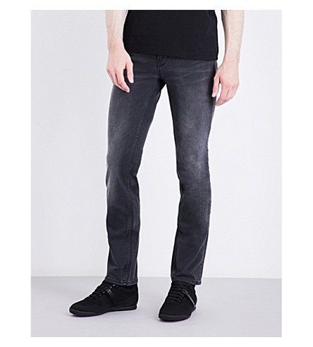 BOSS ORANGE Slim-fit tapered jeans (Black