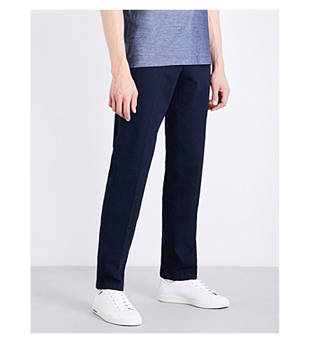 BOSS Slim-fit tapered chinos (Navy