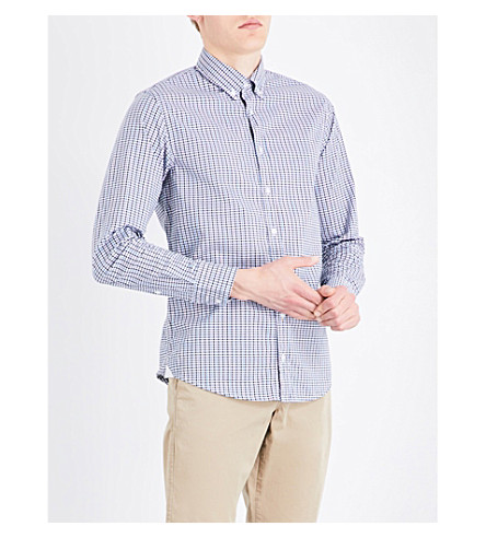 BOSS ORANGE Checked slim-fit stretch-cotton shirt (Light/pastel+pink