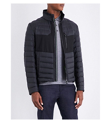 BOSS Stand-collar shell-down jacket (Black