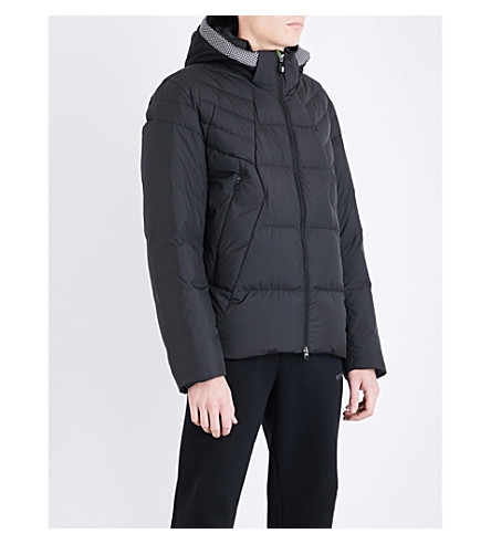 BOSS GREEN Padded shell-down jacket (Black