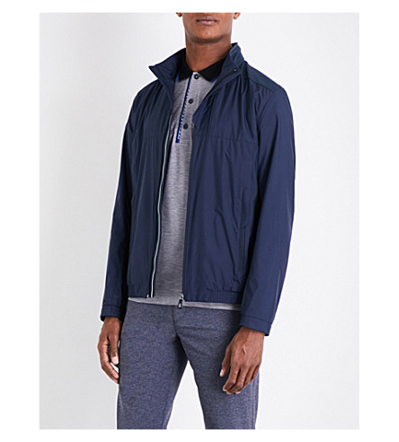 BOSS GREEN Mesh-panelled shell jacket (Navy