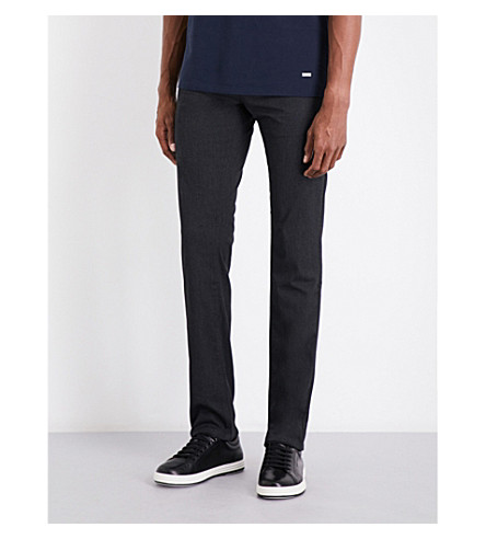 BOSS Slim-fit gabardine chinos (Black