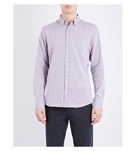 BOSS ORANGE Slim-fit cotton-piqué shirt (Open+red