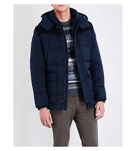 BOSS Quilted down shell jacket (Navy