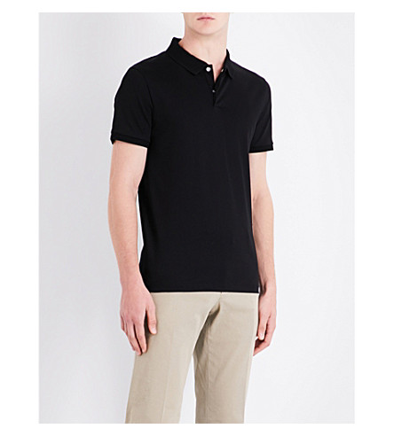 BOSS Leisure cotton-piqué polo shirt (Black