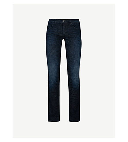 HUGO Skinny slim-fit jeans (Dark+blue