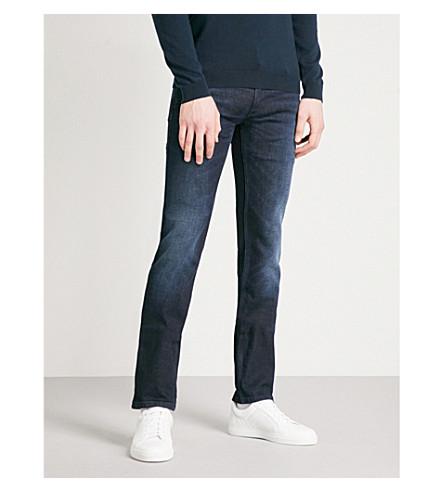 HUGO Skinny slim-fit jeans (Dark+blue