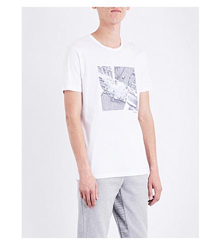 BOSS Graphic-print cotton-jersey T-shirt (White