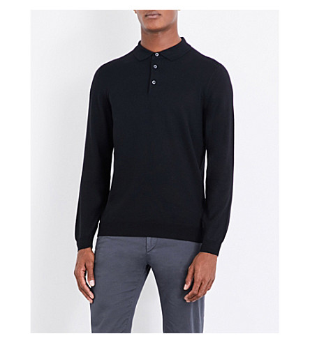 BOSS Polo wool jumper (Black