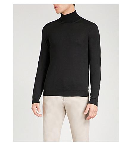 BOSS Turtleneck wool jumper (Black