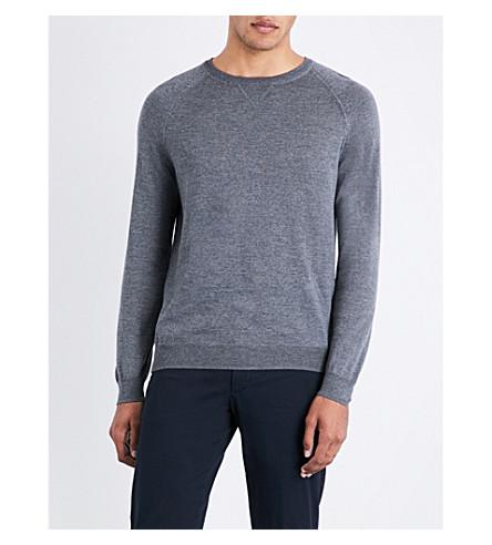 BOSS Crewneck wool jumper (Medium+grey
