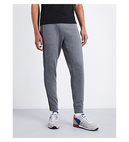BOSS Relaxed-fit cotton-blend jogging bottoms (Medium+grey