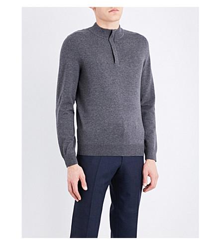 BOSS High-neck wool jumper (Medium+grey