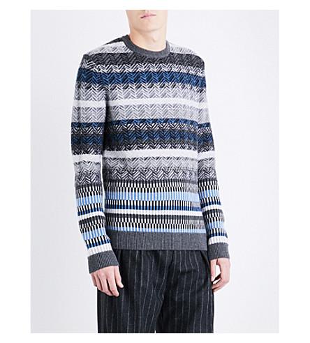 BOSS 圆领羊毛毛衣 (中 + 灰