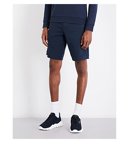 BOSS Zipped-pockets jersey shorts (Navy