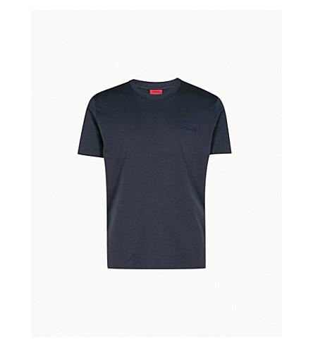 HUGO Embossed logo cotton-jersey T-shirt (Navy