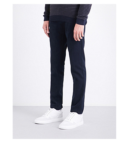 BOSS Slim-fit stretch-cotton trousers (Navy