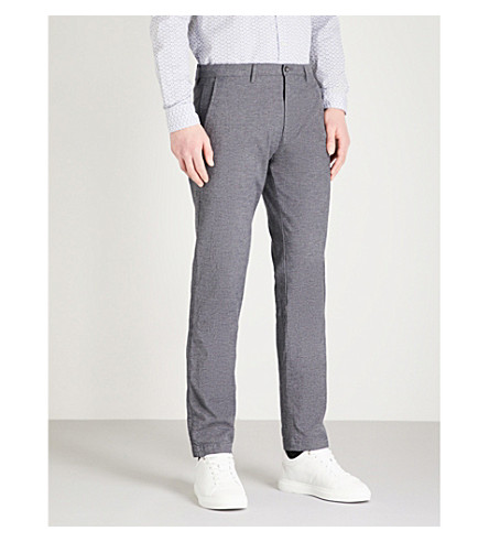BOSS Stretch-cotton trousers (Open+grey
