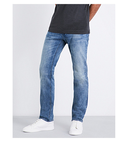 BOSS Regular-fit straight jeans (Bright+blue