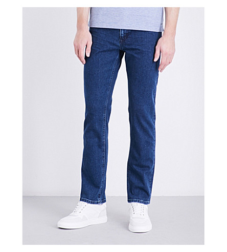 BOSS Regular-fit stretch-denim jeans (Navy