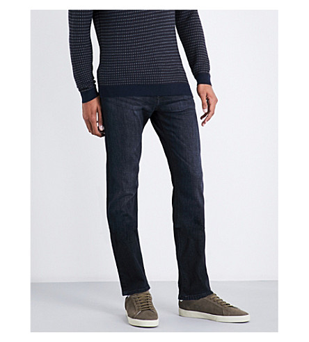 BOSS Regular-fit straight jeans (Charcoal