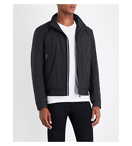 BOSS GREEN Stand-collar shell jacket (Black