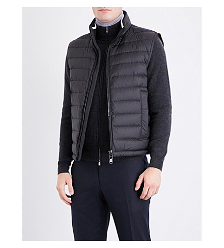 BOSS Padded shell-down gilet (Black