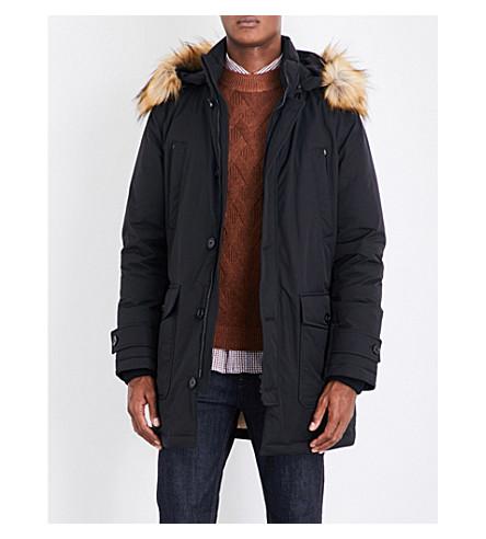 BOSS Hooded shell down coat (Black