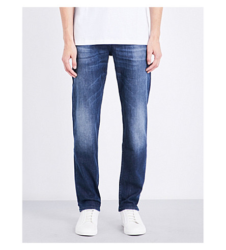 BOSS Slim-fit tapered jeans (Medium+blue