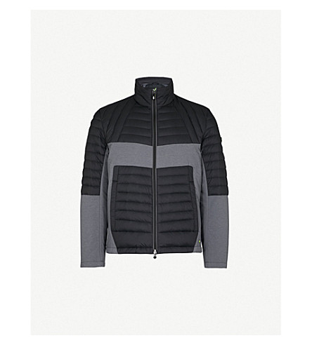 BOSS GREEN Quilted shell-down jacket (Black