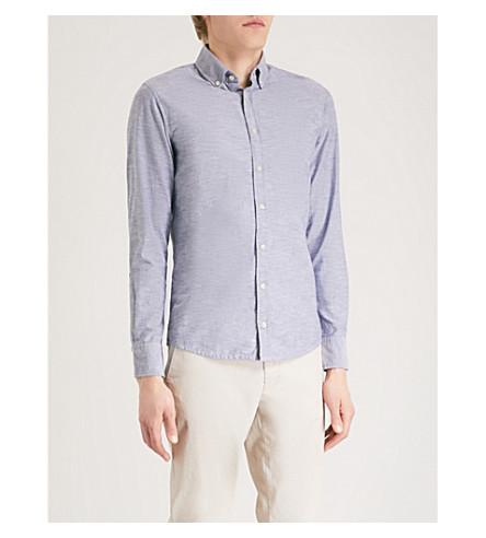 BOSS ORANGE Boss Orange slim-fit cotton shirt (Dark+blue