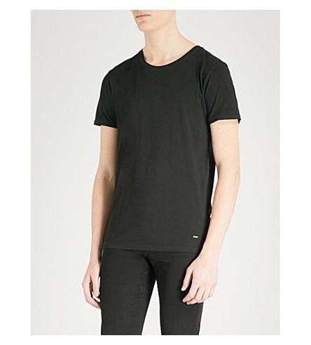 BOSS Crewneck cotton T-shirt (Black