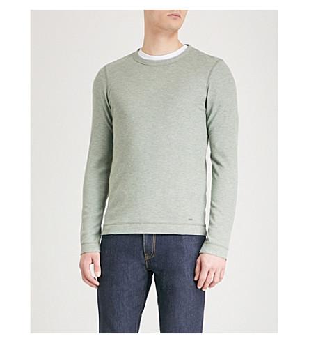 BOSS Crewneck cotton-jersey T-shirt (Light/pastel+green