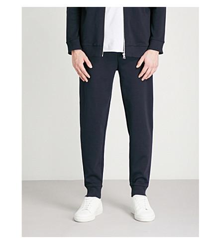 HUGO Reverse brand-patch cotton-jersey jogging bottoms (Navy